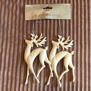 Christmas Sparkly beautiful reindeer ornaments- BN